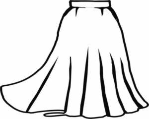 Skirt (knee length)
